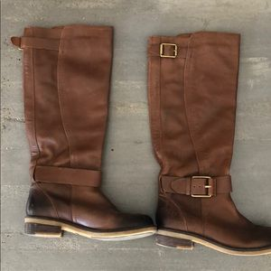lucky brand tall leather boots